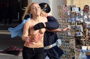 L'attivista Inna ieri a Roma.