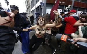 Attivismo Femen a Madrid.
