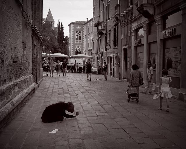 Beggar in Venice,  by Johnsoko