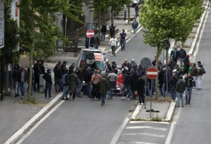++ C.Italia:tifoso ferito da colpo pistola,è gravissimo ++