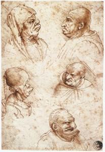 Leonardo_da_vinci,_Five_caricature_heads