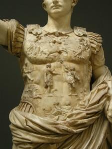 Augusto di Prima Porta, la lorica.