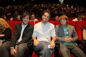Da sinistra: Guglielmo Scilla, Claudio Di Biagio, Matteo Bruno. Amici nella vita e nel lavoro