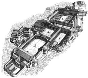 Ricostruzione del complesso dei Fori Imperiali