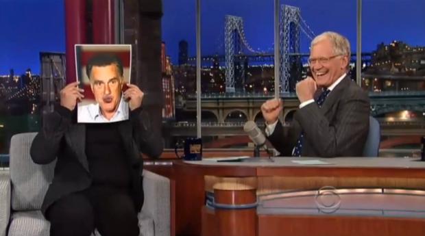Billy Crystal impersona Mitt Romney al Late Show