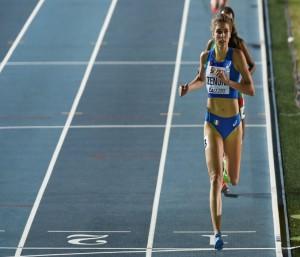 Marta Zenoni all'arrivo sugli 800m.