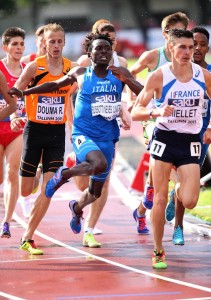 Joao Bussotti nella gara dei 1500 a Tallinn