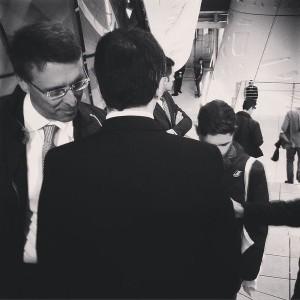 Renzi e Cantone. Foto presa dal profilo Instagram di FIlippo Sensi