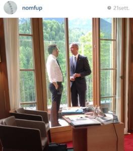 Foto presa dal profilo Instagram di Filippo Sensi