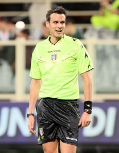 L'arbitro Riccardo Ros di Prodenone. Ha arbitrato la partita insieme a Santoro e Opromolla.