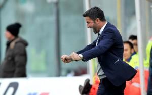 L'esultanza di Panucci al gol di Moscati
