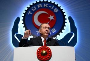 Turkey's President Tayyip Erdogan addresses the audience during a meeting in Ankara, Turkey, December 3, 2015. REUTERS/Murat Cetinmuhurdar/Presidential Palace Press Office/Handout via Reuters