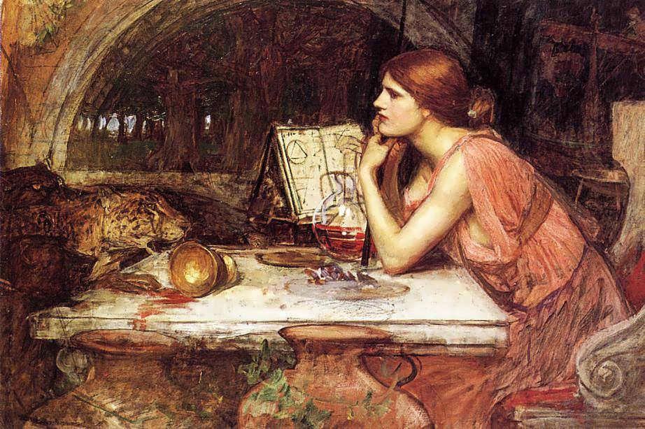 John_William_Waterhouse_-_Sketch_of_Circe,_1911-1914