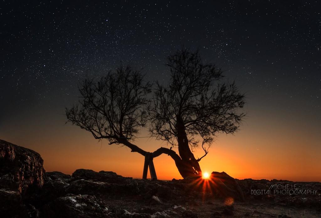 Stelle e tramonto