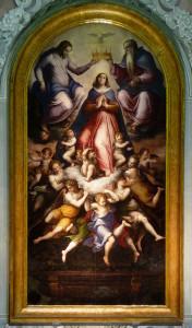 Giorgio Vasari, Incoronazione della Vergine, 1571, olio su tavola.
