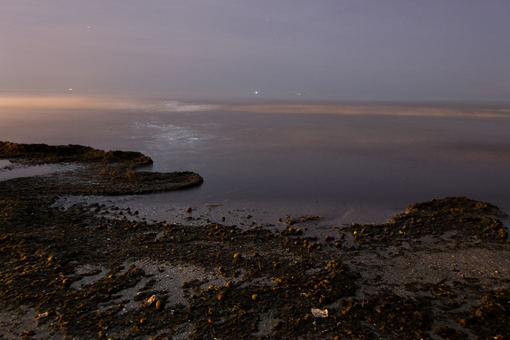 Shore by night