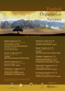 Locandina Festival Organistico Apuano 2016
