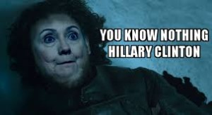 (Speriamo che stanotte Hilary non ne esca così)