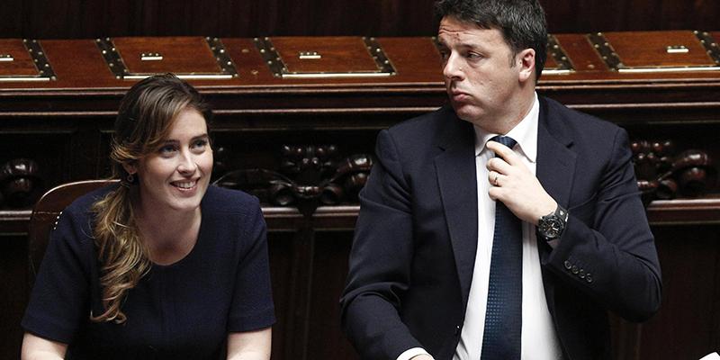I proponenti: Matteo Renzi e Maria Elena Boschi