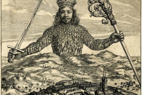 L'immagine, di biblica memoria, del Leviatano di Hobbes, corpo titanico dell'umanità, vincolata dal patto sociale della civiltà. SImbolo per eccellenza dell'organismo sociale.
