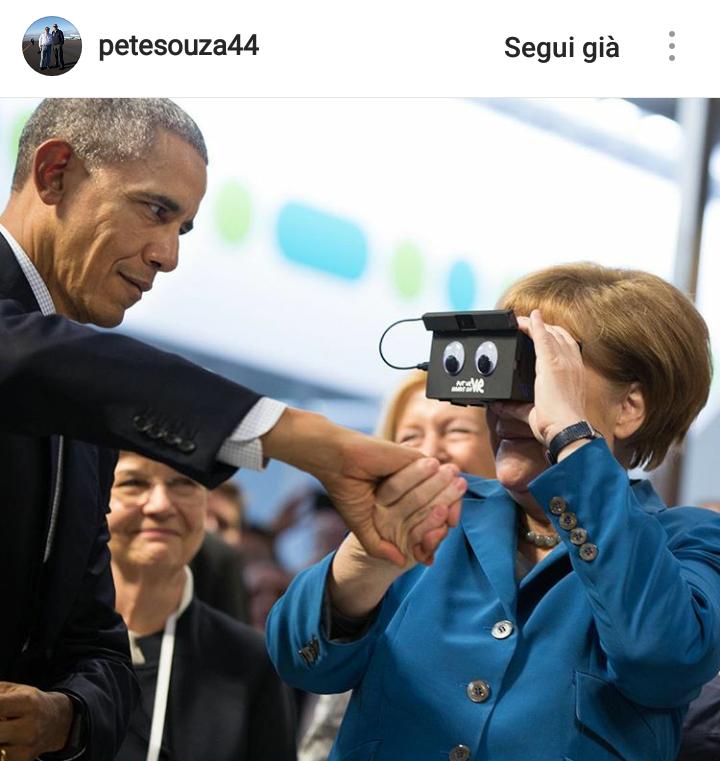 Obama scherza con la Merkel.
