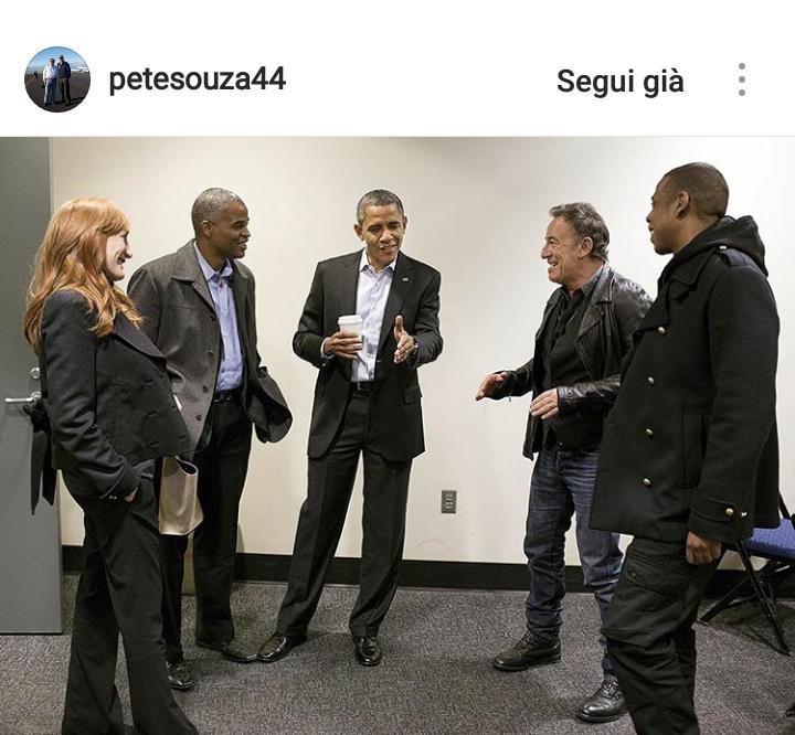 Obama con Bruce Springsteen e Jay-Z.