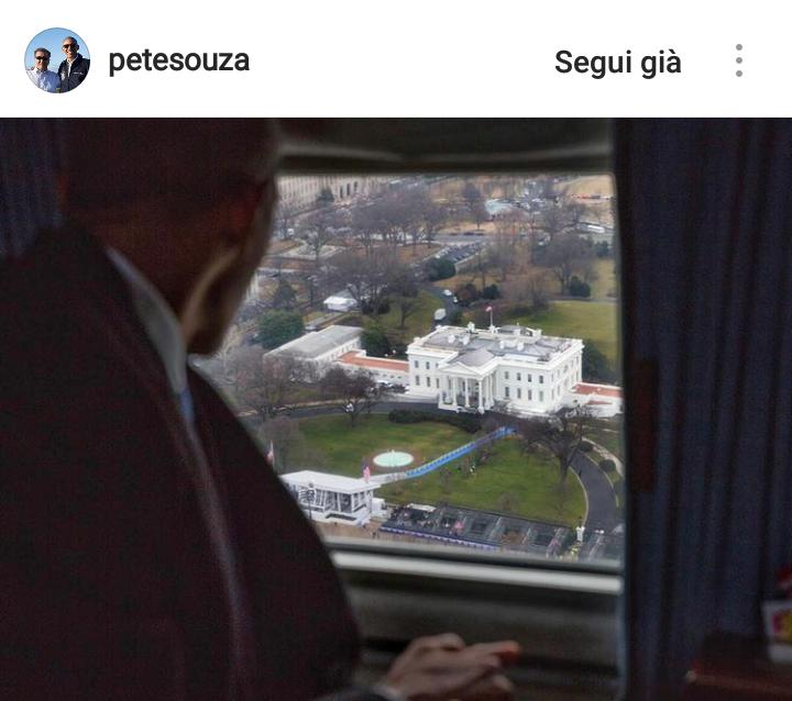 Gennaio 2017. Obama lascia la Casa Bianca per l'ultima volta.