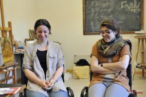 Le artiste Elisabetta Carini e Sofia Novelli. Ph Raul Lessi