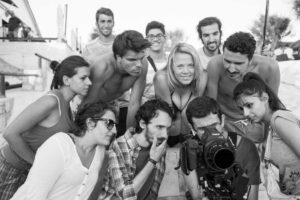 Lo staff del film a lavoro. Ph Giorgio Vacirca
