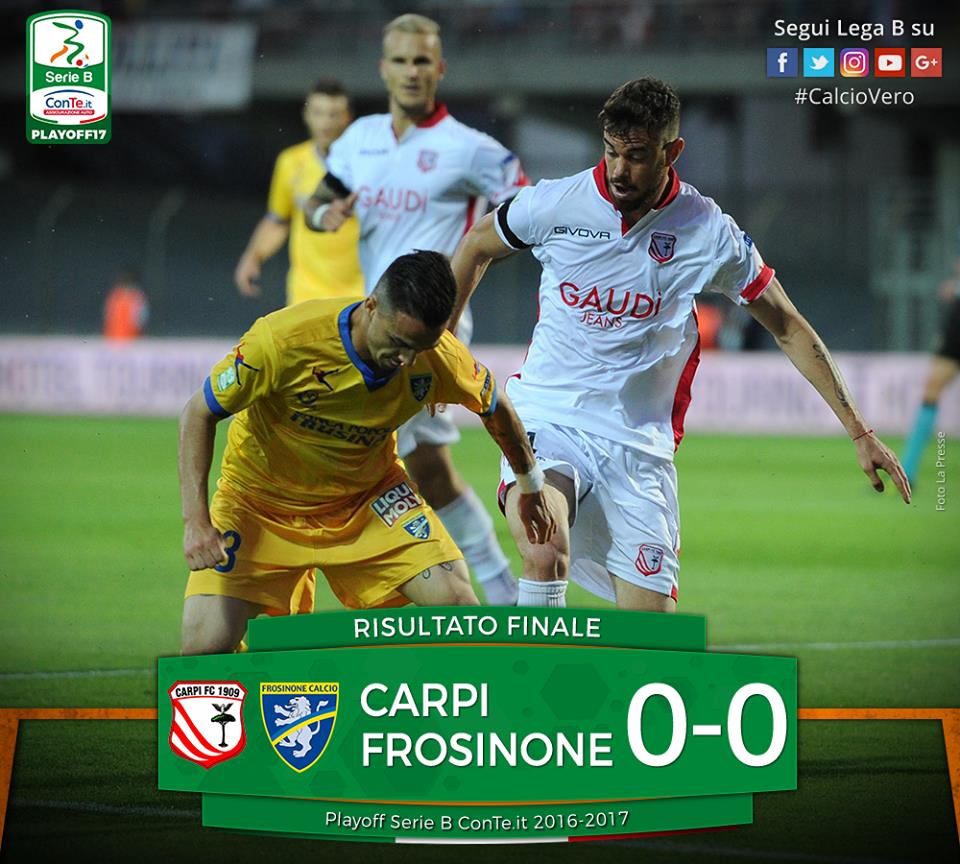 Play-off B, Frosinone-Carpi 0-1. Letizia manda in orbita i carpigiani