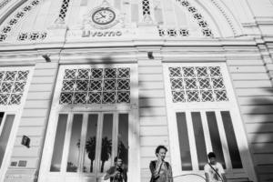 Foto dal set: stazione FS di Livorno. Ph Giorgio Vacirca