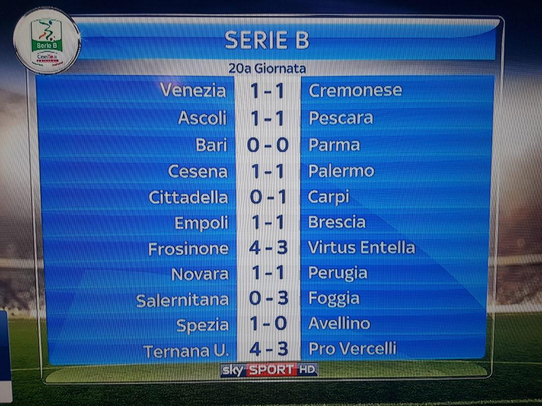 XX giornata di Serie B, Frosinone-Entella 4-3: show allo Stirpe