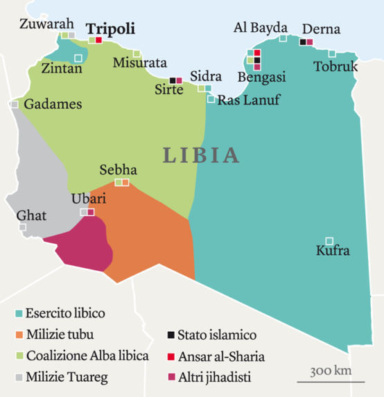 Mappa del conflitto (2015). Fonte: Limes, rivista italiana di geopolitica