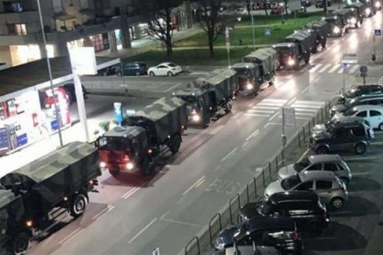 Coronavirus camion esercito Bergamo